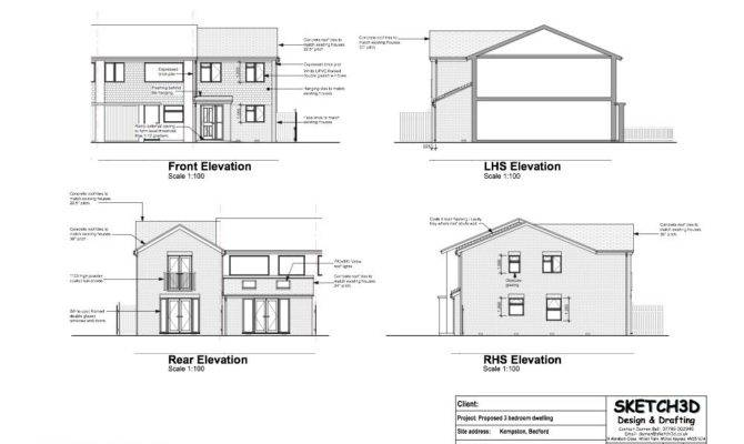 Example House Plans Bedroom End Terrace Built Let