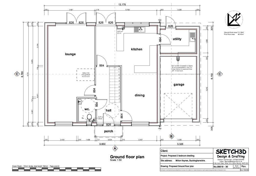 Example Self Build House Plans Low Energy Lifetime Home