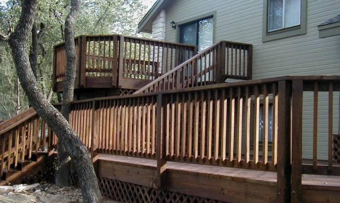 Exceptional House Deck Plans Split Level Home