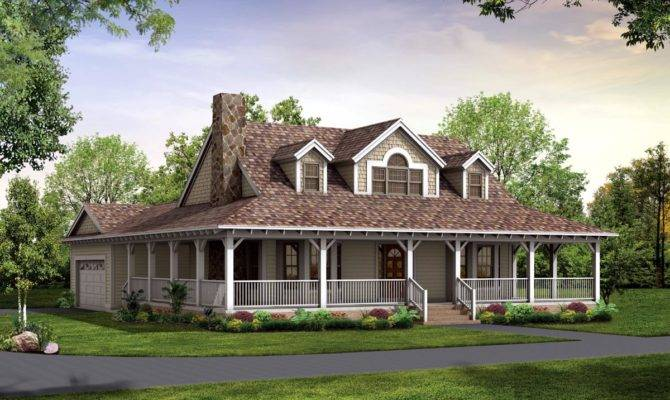 Exceptional House Plans Porch Country