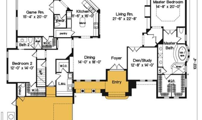 Exciting Mediterranean House Plan Bonus Room
