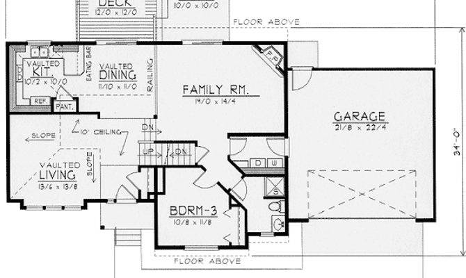 Exciting Multi Level House Plan Floor