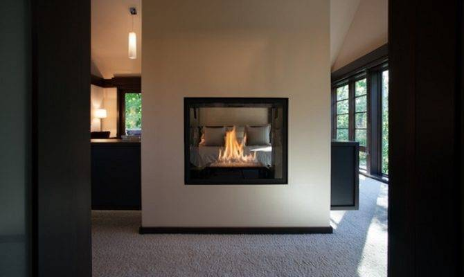 Exclusive Double Sided Fireplace Design Ideas Modern