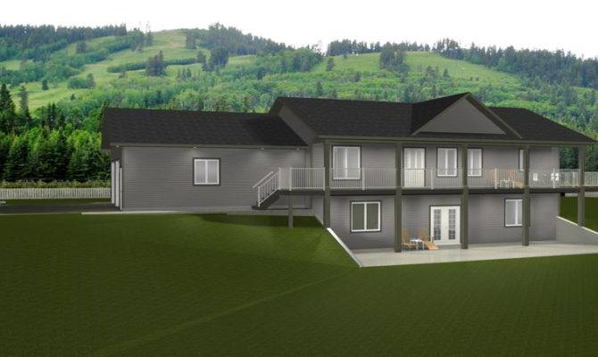 Exposed Basement House Plans Walkout