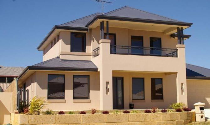 Exterior Colour Exteriors Double Storey House Designs Building