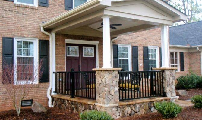 Exterior Cool Front Porch Decoration Using