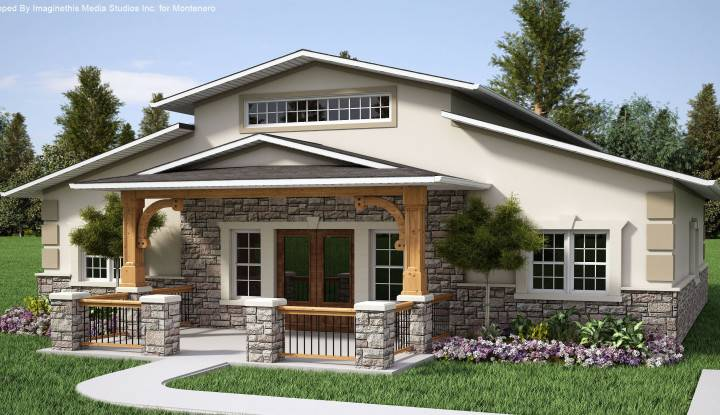 Exterior Design House Country Ideas Half Stone