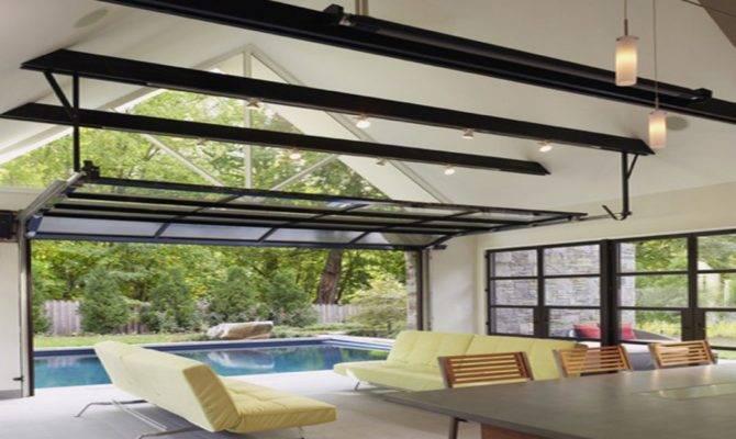 Exterior Folding Doors Pool House Garage Door Luxury