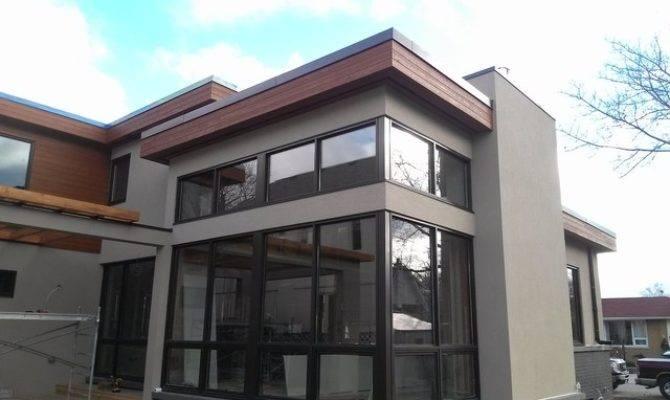 Exterior Maibec Stucco Stone Design Custom Home