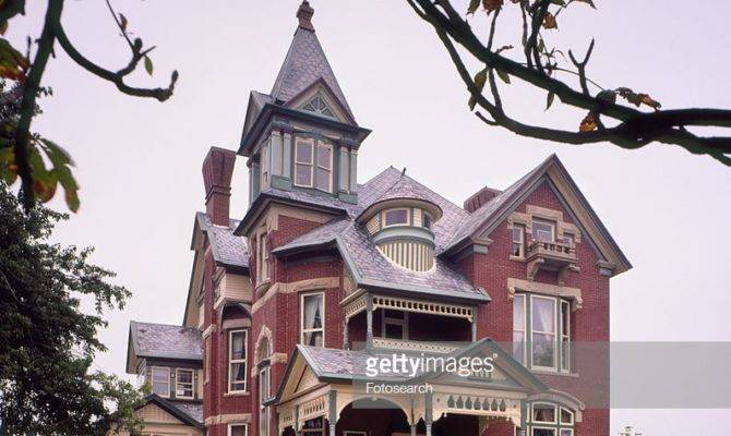 Exterior Southern Brick Queen Anne Victorian Home