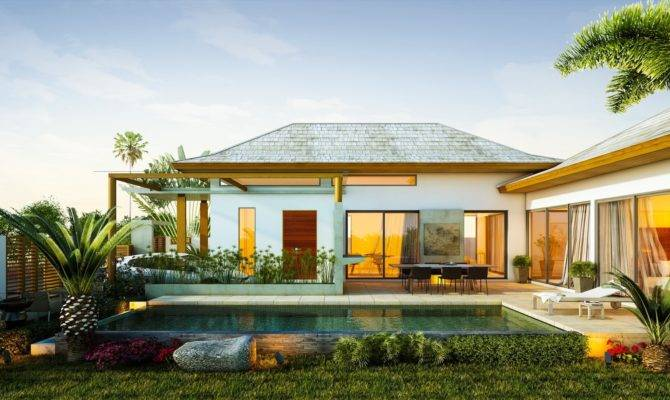 Exterior Tropical Homes Design Relaxing Ambiance