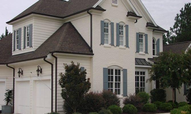 Exterior Window Trim Painted Houses Brick Siding