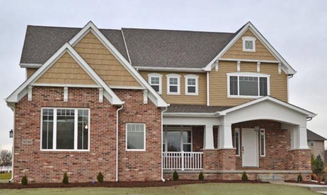 Exteriors Houses Half Brick Siding Homes