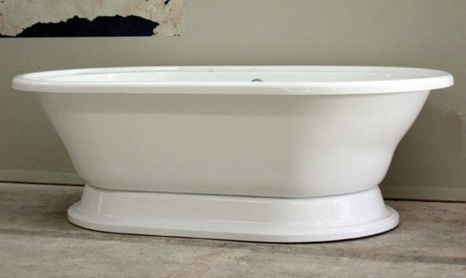 Extra Large Double Ended Pedestal Bath Tub