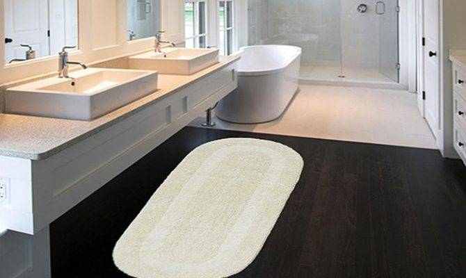 Extra Large Double Vanity Reversible Cotton Bath Rugs Deal