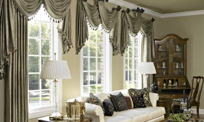 Famous Living Room Window Treatments Bay Windows