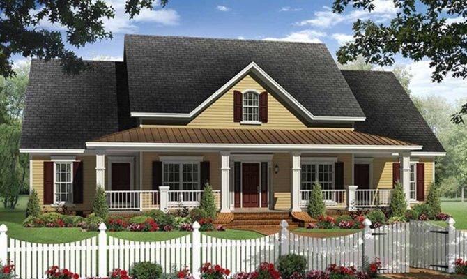 Farmhouse Style House Plan Beds Baths