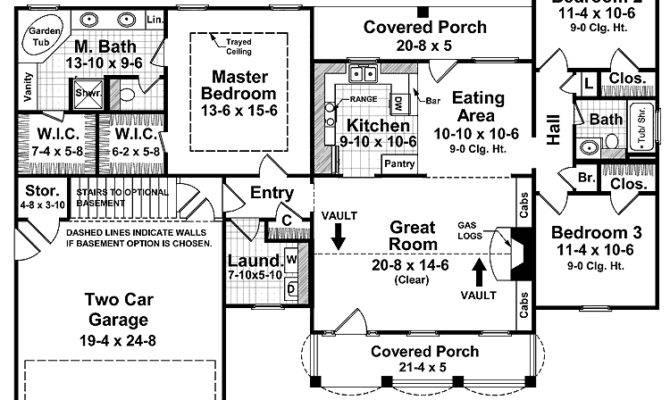 Farmhouse Warmth Split Bedroom Floor Plan