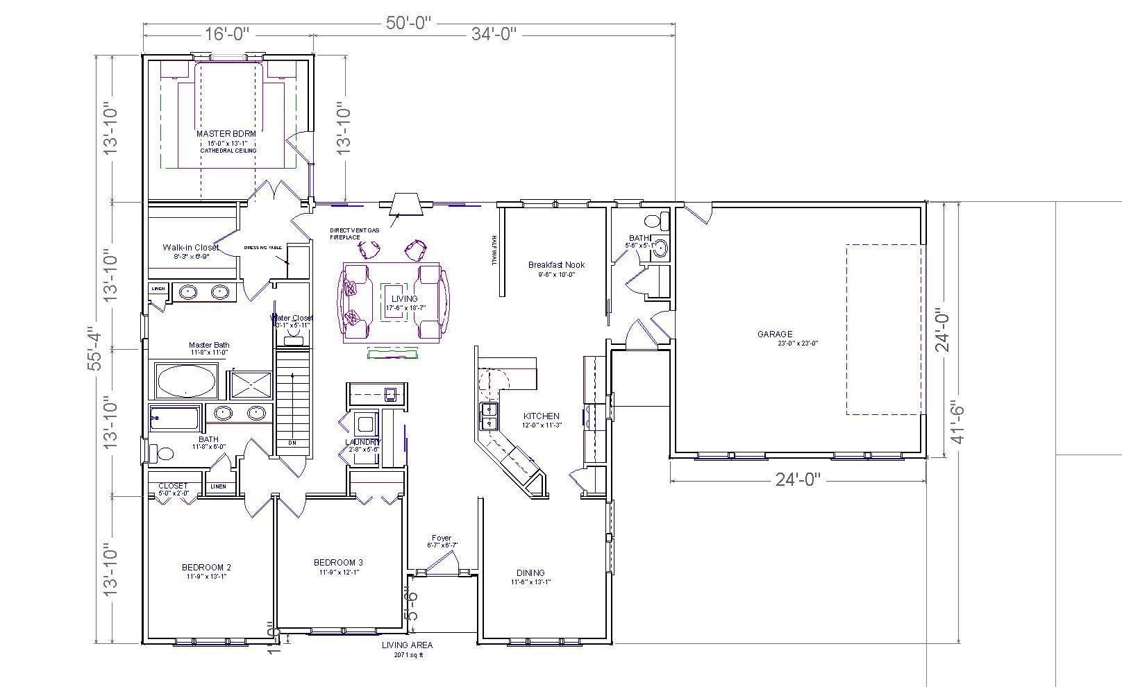 Farmington Ranch House Plans