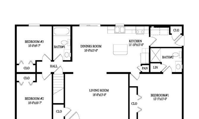Fascinating Bedroom Ranch Floor Plans Ideas Including