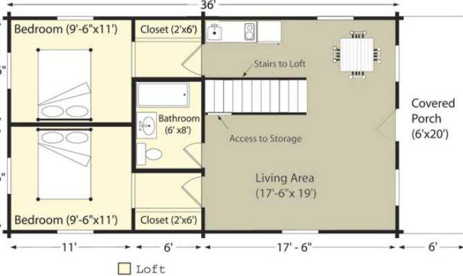 Features Small Cabin Floor Plans Log