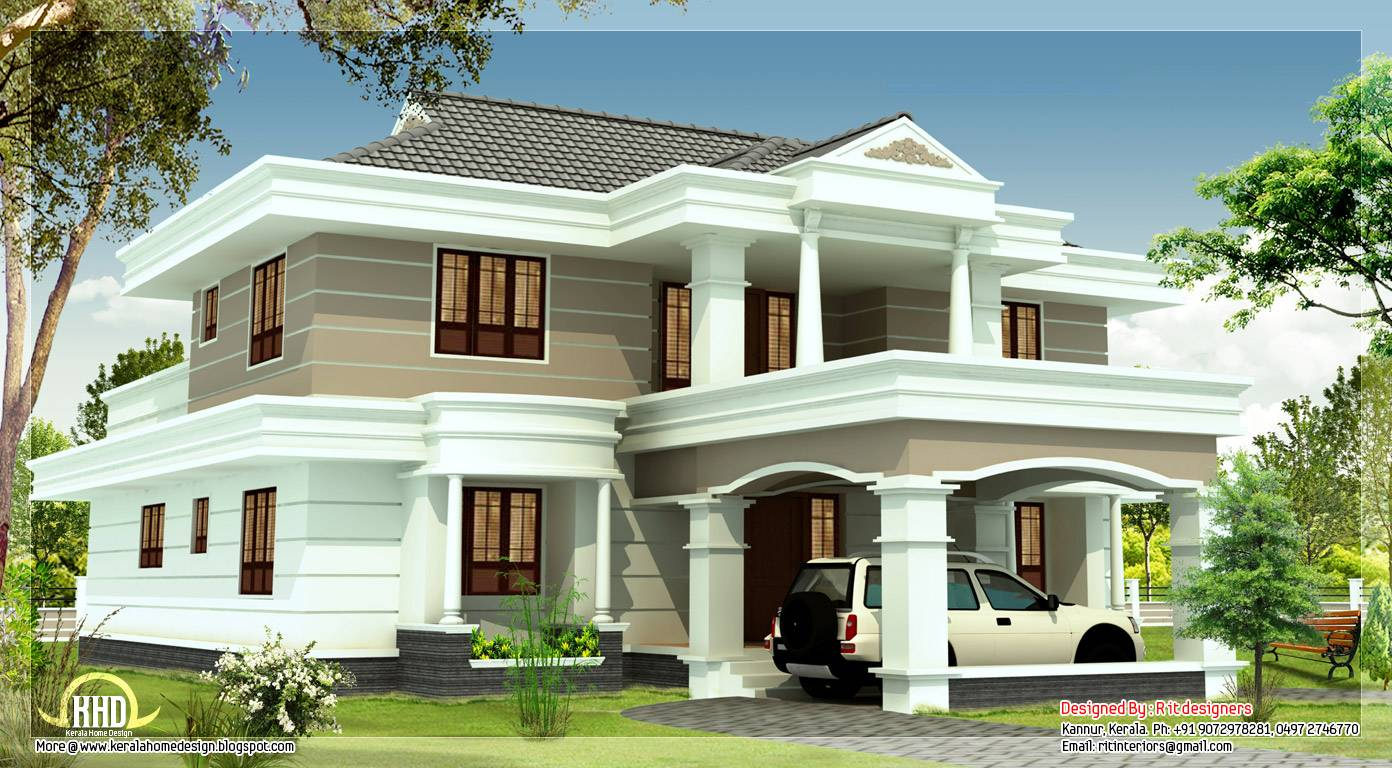 Feet Beautiful House Elevation Kerala Home