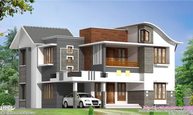 Feet Beautiful Modern Villa Kerala Home Design Floor Plans