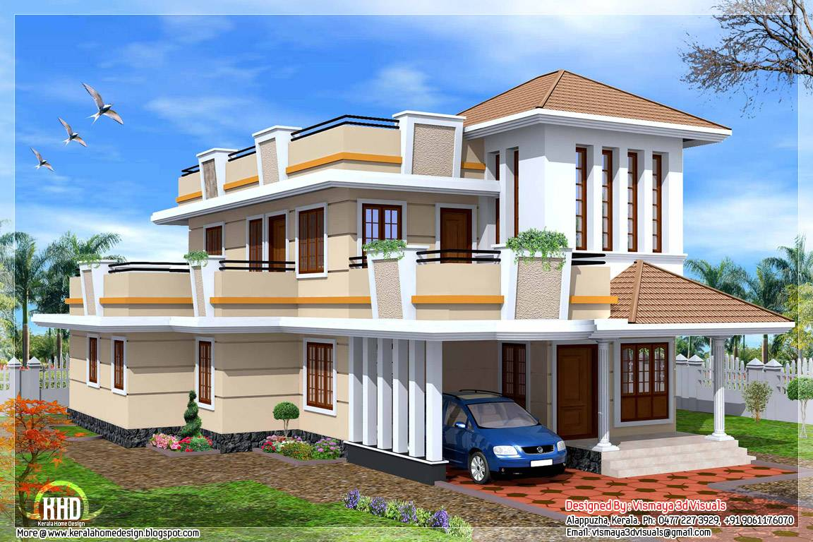 Feet Bedroom Double Storey House Kerala Home