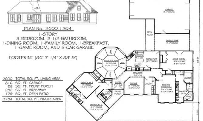 Feet Bedroom House Plans