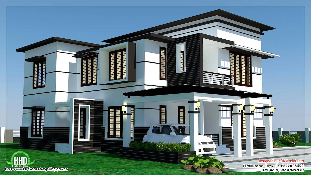 Feet Bedroom Modern Home Design House Plans