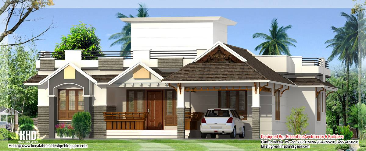 Feet Bedroom Single Storey House Indian Plans