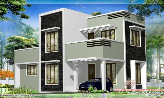 Feet Kerala Flat Roof Home Design Floor Plans