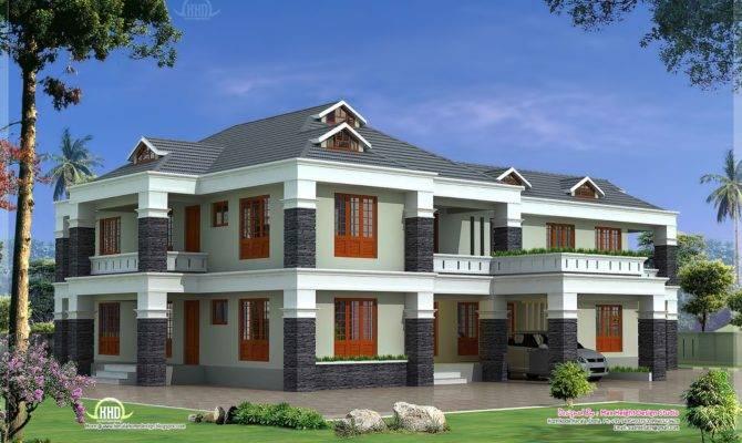 Feet Luxury Villa Exterior Kerala Home Design Floor Plans