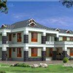 Feet Luxury Villa Exterior Kerala Home Design