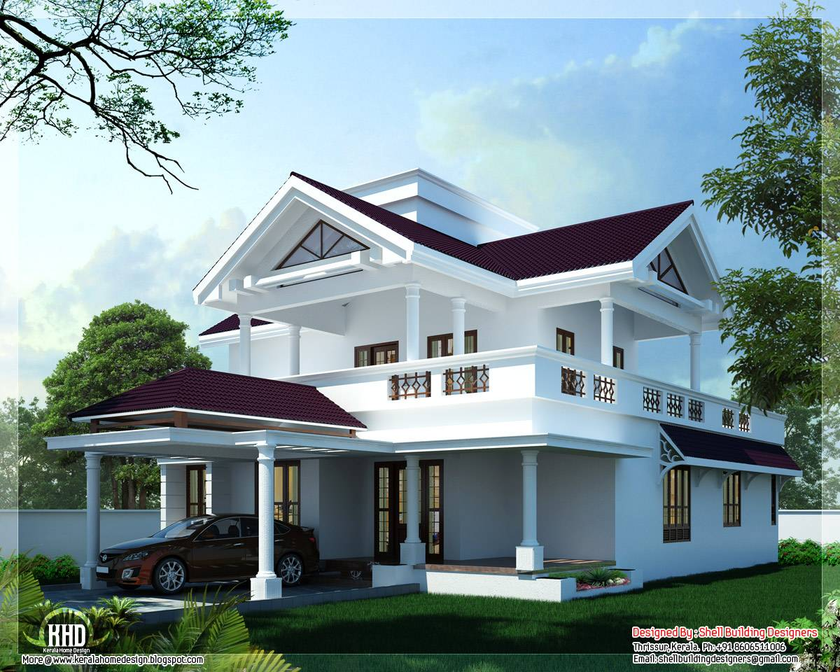 Feet Modern Sloping Roof Home Design Indian Decor