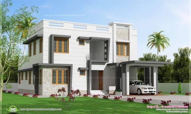Feet Modern Villa Design Kerala Home Floor Plans
