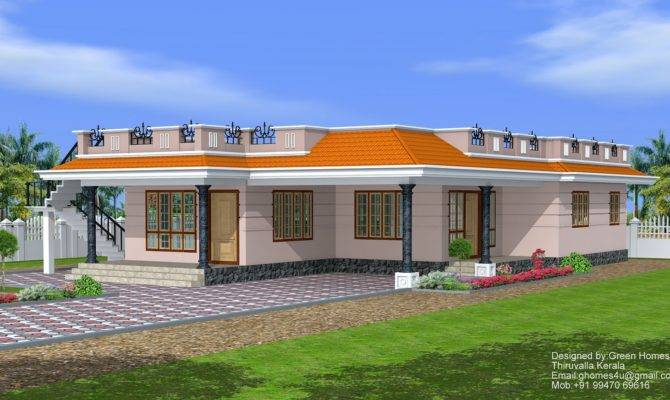 Feet Single Storey House Designed Green Homes Thiuvalla