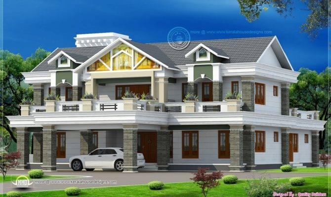 Feet Super Luxury Home Design Kerala