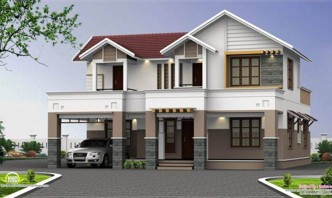 Feet Two Storey House Elevation Kerala Home