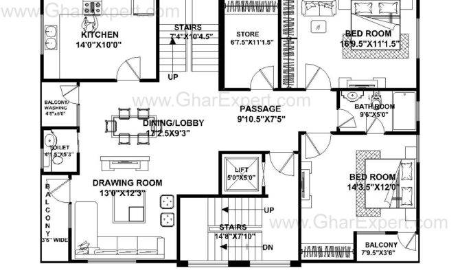 Feet Wide House Plans Escortsea
