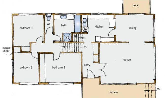 Figure Typical Split Level House Plan Main Floor