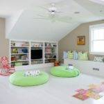 Finished Room Over Garage Turned Clean Orderly Playroom