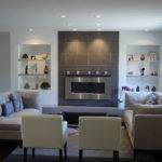 Fireplace Accented Floor Ceiling Large Block