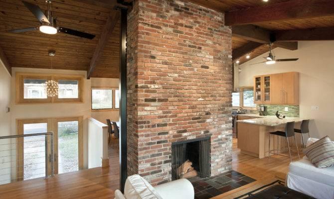 Fireplace Center Contemporary Living Room
