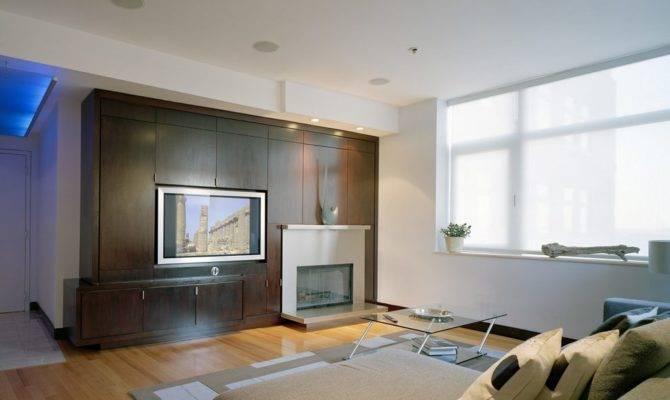 Fireplace Center Speaker Room Contemporary