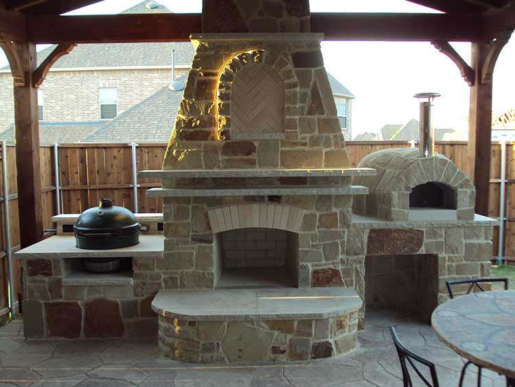 Fireplace Plans Building Outdoor Plan Drawings
