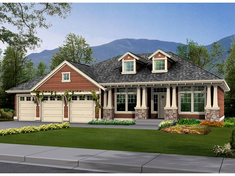 Fischer Craftsman Style Home Plan House Plans