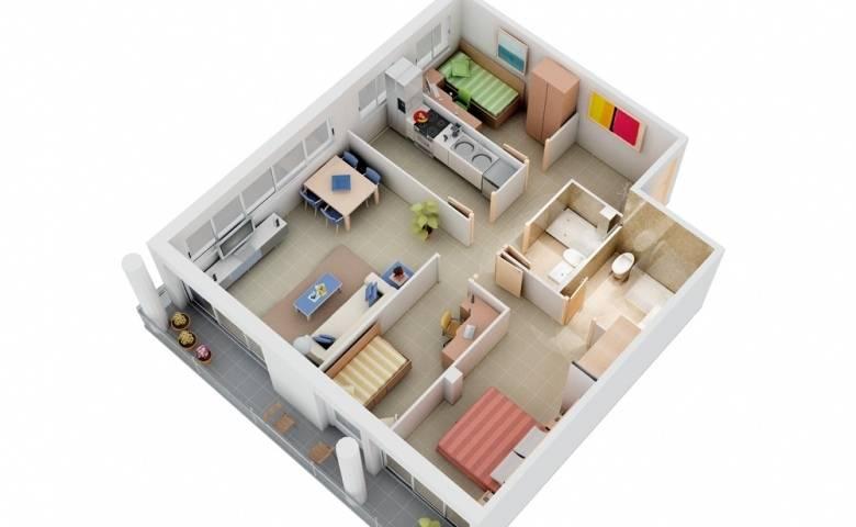 Fit Three Bedrooms Comfortably Floor Plan Master Bedroom