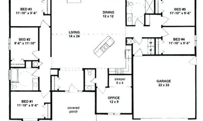Five Bedroom House Plans Ultimate Floor