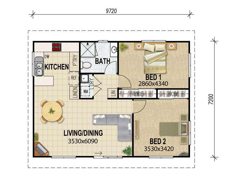 Flat Plans Granny Designs House Queensland